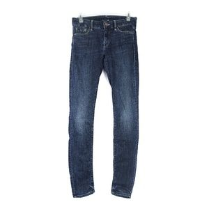 Mother The Looker dark wash skinny jeans, size 26